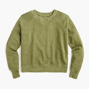 J Crew Crewneck Pullover in Vintage Cotton Terry